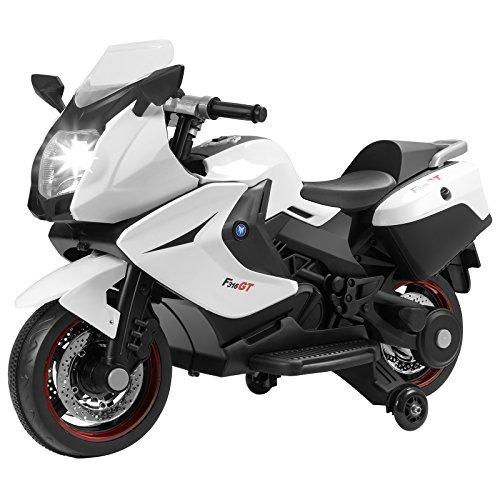 Murtisol Kids Motorcycle Power Wheels Motorcycle 12V/ 2 Wheel/ White