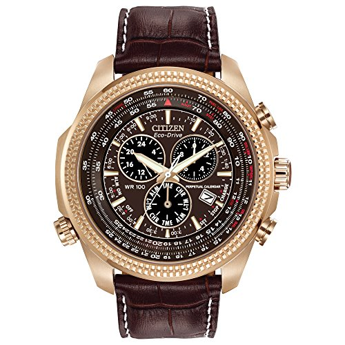 - Citizen Men's Eco-Drive Chronograph Watch with Perpetual Calendar and Date, BL5403-03X