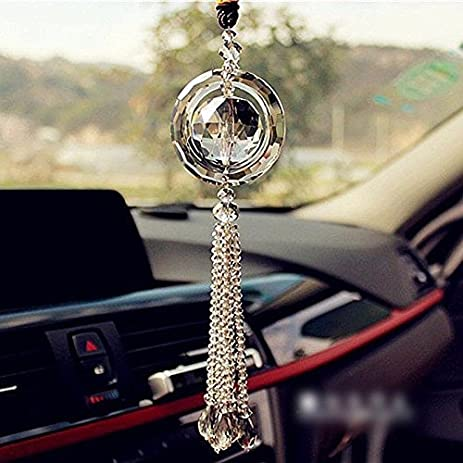 Amazoncom Hot Car Rear View Mirror Pendant Crystal Car Hanging