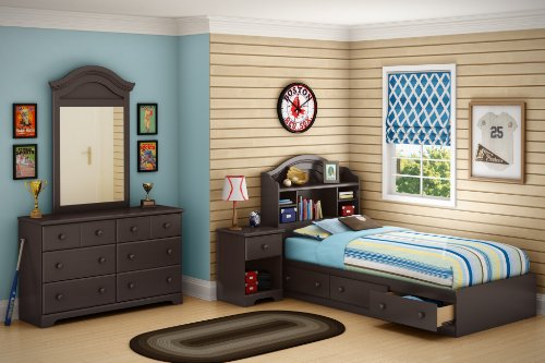 South Shore Summer Breeze Collection 6-Drawer Double Dresser, Chocolate