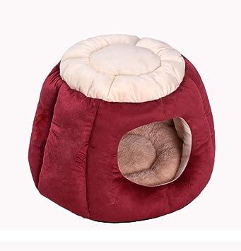 SMACO Cama De Perro De La Perrera Nido De Gato Nido Mascota Pet Suministros De Color Marrón Rojo Rosa,Red,M: Amazon.es: Deportes y aire libre