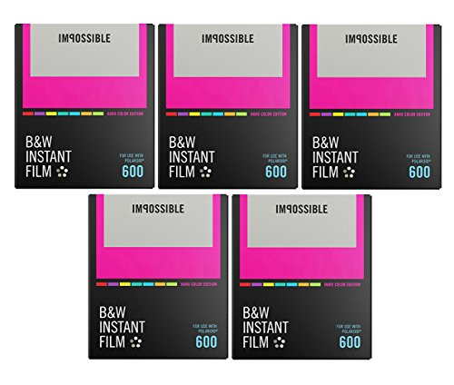 Impossible B&W Instant Film for I-1 and 600 Type Cameras (Color Frames) 5PK by The Impossible Poject