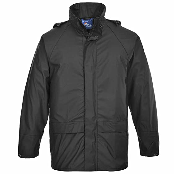 Portwest Mens Sealtex Waterproof Workwear Safety Coat Jacket Black ...