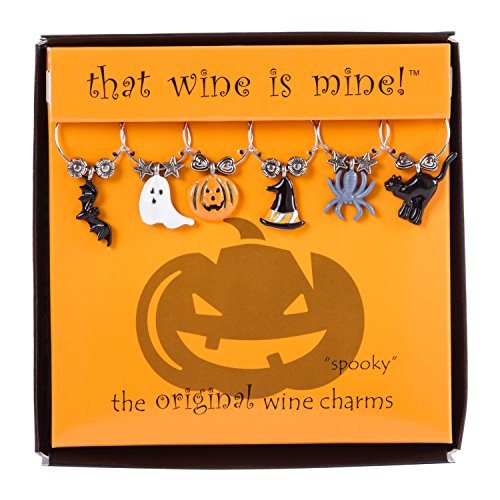 Wine Things 6-Piece Spooky Wine Charms, Painted]()