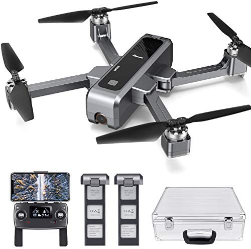 Follow Me Selfie Drone for Photographers 40km//h Auto Return Home 25min Flight Time Carrying Case FPV Foldable Quadcopter with Brushless Motor Potensic D68 GPS Drone with 4K FHD Camera for Adults