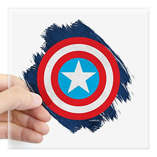 CafePress Captain America Distressed Square Sticker 3 X 3 Square Bumper Sticker Car Decal, 3