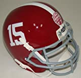 Alabama Crimson Tide unsigned Schutt #15 Authentic Mini Helmet 2012 BCS National Champions