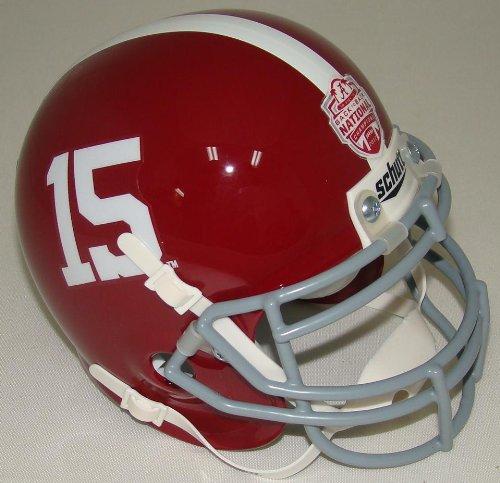 Alabama Crimson Tide unsigned Schutt #15 Authentic Mini Helmet 2012 BCS National Champions