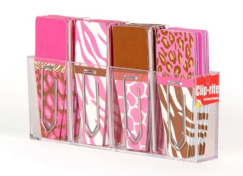 Clip-rite Clip-Flags Animal 9 Clip-Tabs per Design, Pink/Brown (CRT-067)