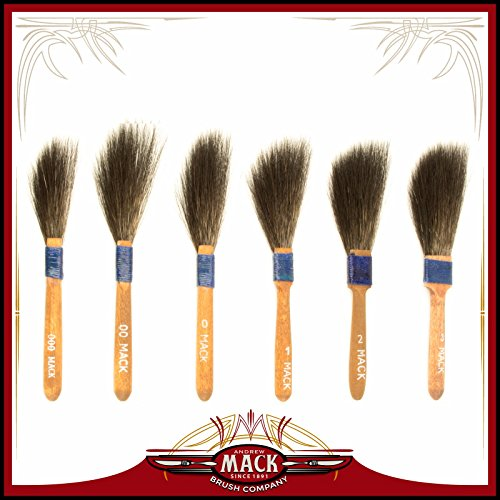Pinstriping Brush Sword ((6) Andrew Mack Brush Sword Striping Series 10 Sizes 000-3 Pinstriping Brushes)