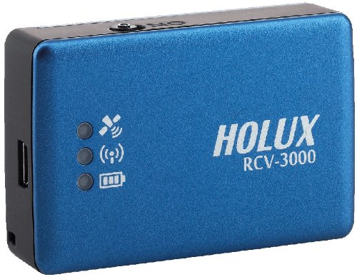 Holux RCV-3000 Bluetooth Data Logger USB GPS (Bluetooth, USB GPS, 66CH, WAAS, 200k Waypoints) by Holux