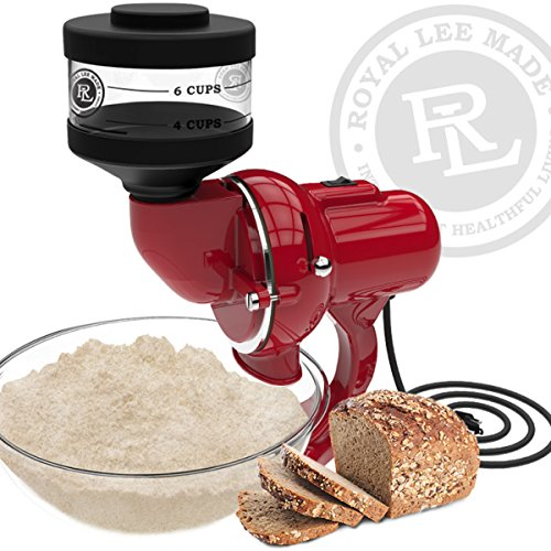 Stone Red Royal (Lee Household Flour Mill Grain Mill, Red)