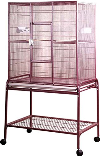 A/&E Cage Co 32-Inch by 21-Inch Flight Cage and Stand Platinum