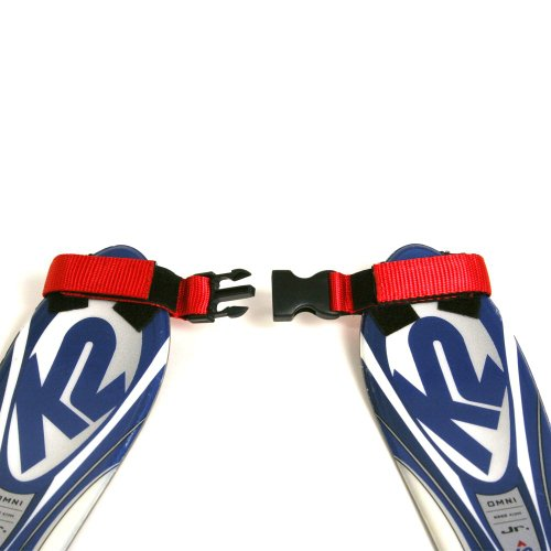 Lucky Bums Tip Clip Ski Training Aid (Red/Black) ()