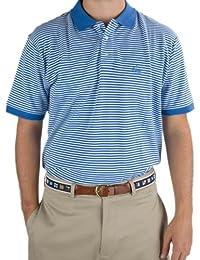 Nantucket Brand Men's Pique Polpis Striped Polo Shirt