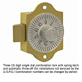 Salsbury Industries 2086 Replacement Combination Lock for Brass Mailbox Door