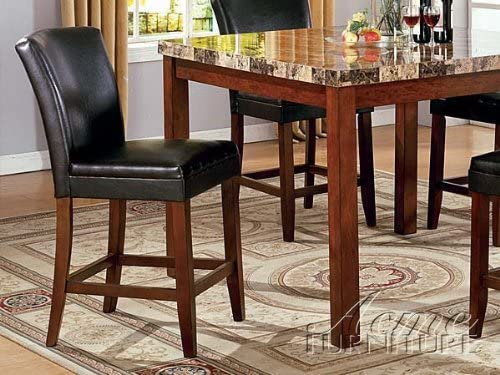 ACME Set of 2 Portland Counter Height Chair, Espresso Finish