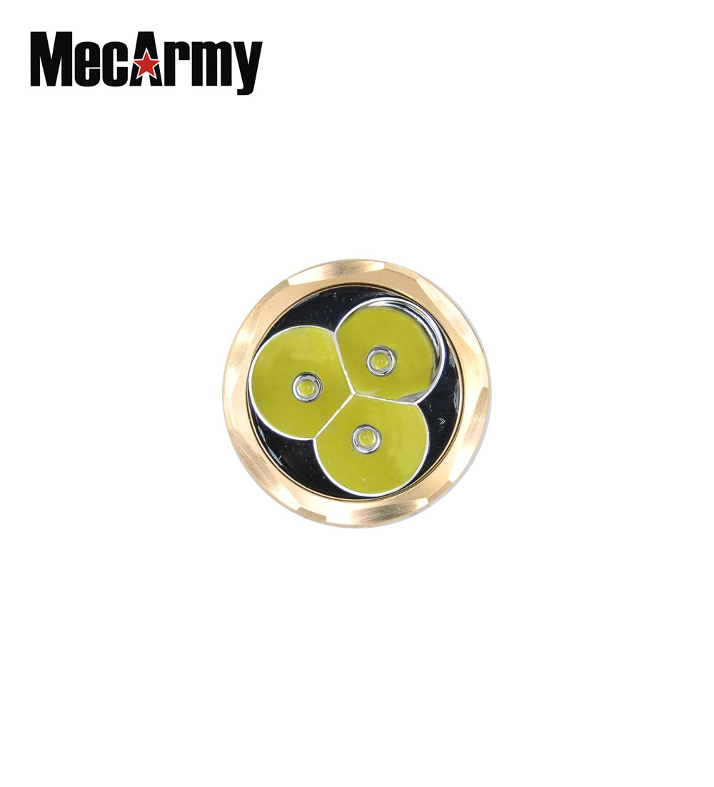 MecArmy PT16 Brass BUNDLE with Key Chain LED Flashlight 1200 Lumens, Rechargeable 16340 Battery, Lanyard, and Mini USB Light by MecArmy (Image #7)