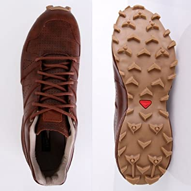 Salomon Speedcross LTR LTD Cognac Leather Sand 46: Amazon.co