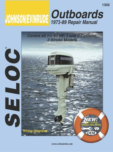 Johnson/Evinrude Outboards 1973-89 Repair Manual (Motor Parts Johnson Outboard)