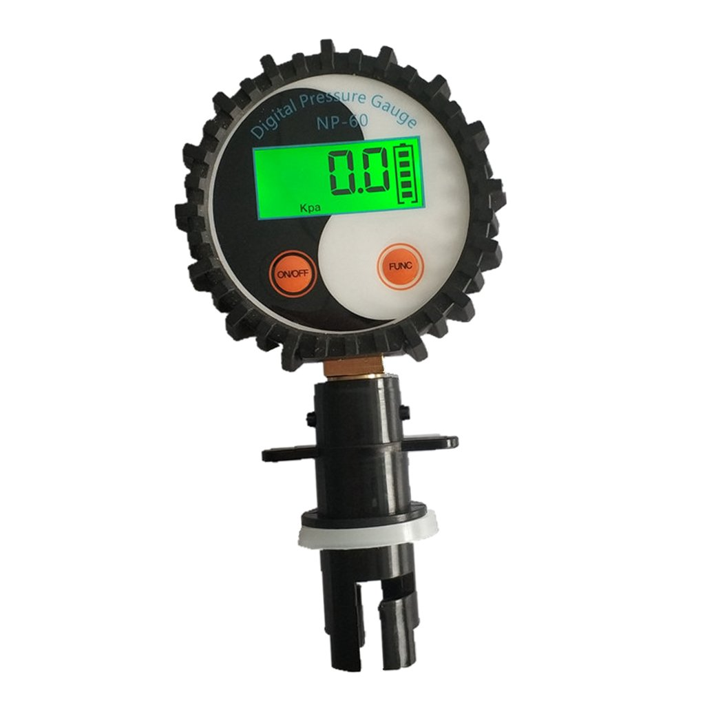 MonkeyJack Professional Plastic Battery Digital Pressure Gauge Tyre Tire Air Pressure Tester - 0-5PSI