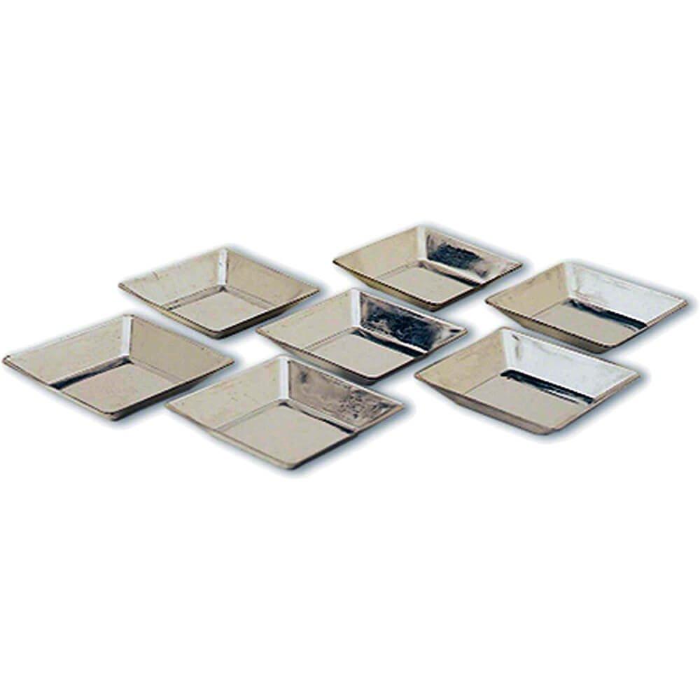 Matfer Bourgeat Tinplate Square Tart Pans, Slanted Sides, 2.62'', 25PK 343232
