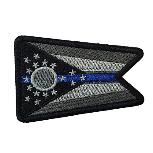 SpaceCar USA The Buckeye State Birthplace of Aviation Ohio OH State Flag Tactical Morale Patch 3