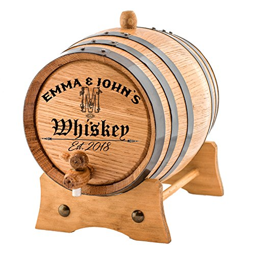 Personalized - Customized American White Oak Aging Barrel - Vintage Alphabet (3 Liters) by Sofia's Findings
