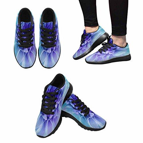 Interestprint Mujeres Trail Correr Zapatos Jogging Ligero Deportes Caminar Athletic Sneakers Dahlia Flower Blooms Multi 1