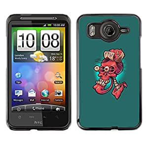 CASER CASES / HTC G10 / Ftw Red Skull - Funny / Delgado Negro Plástico caso cubierta Shell Armor Funda Case Cover