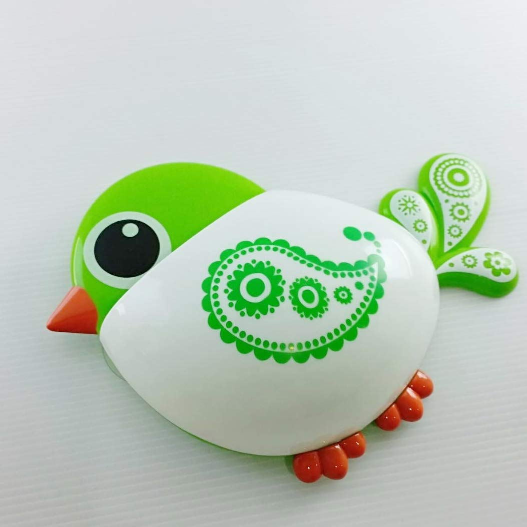 Heavens Tvcz Cute Animal Clip Green Tooth Bird Brush Toothbrush Holder Bathroom Storage Kids Décor Home