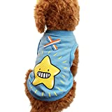 lps jack russell terrier - WEUIE Clearance Sale Colorful Cute Pet Vest Clothing Small Puppy Costume Summer Apparel (L,Blue)