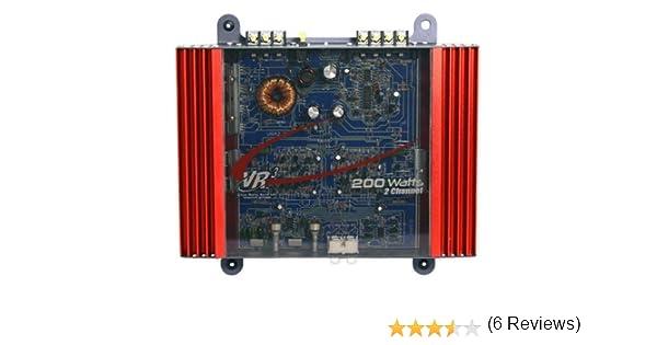 amazon com vr3 vra2 0 amp 200 watt 2 channel mosfet 2 ohm car audio rh amazon com Car Audio Crossover Settings Car Stereo Amp Wiring