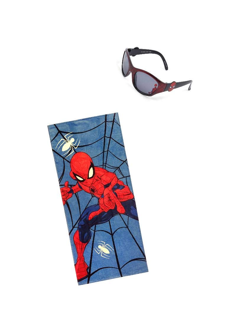 Spiderman Cotton 28''x58'' Beach Towel Sunglasses for Kids by Spiderman (Image #1)