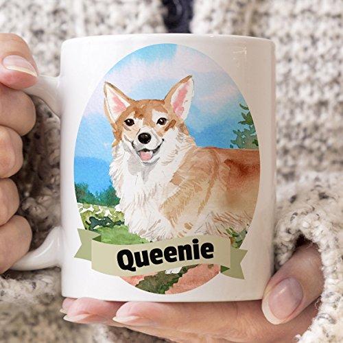 Corgi Custom Dog Mug Your Dog's Name on a Cup Mirowave and Dishwasher - Pets Corgi Mug