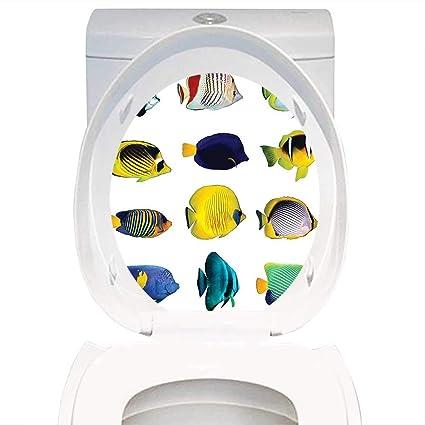 Excellent Amazon Com Bathroom Toilet Seat Sticker Decal Ocean Animal Alphanode Cool Chair Designs And Ideas Alphanodeonline