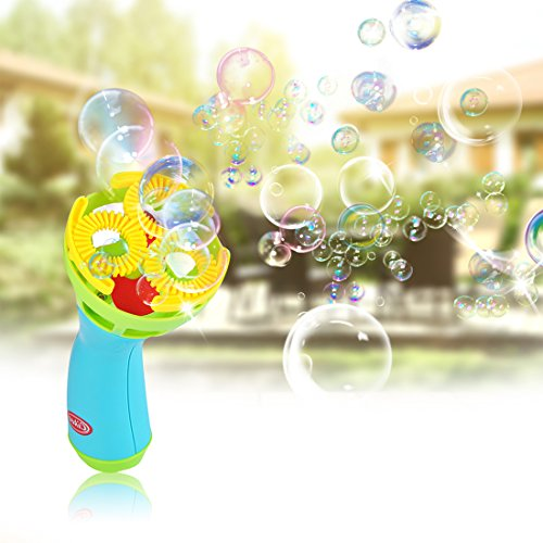 Electronic Bubble Maker Machine Bubble Blaster Set Bubble Wand Blower for Kids Suitable Outdoor Garden Toy Party Stage Weddings