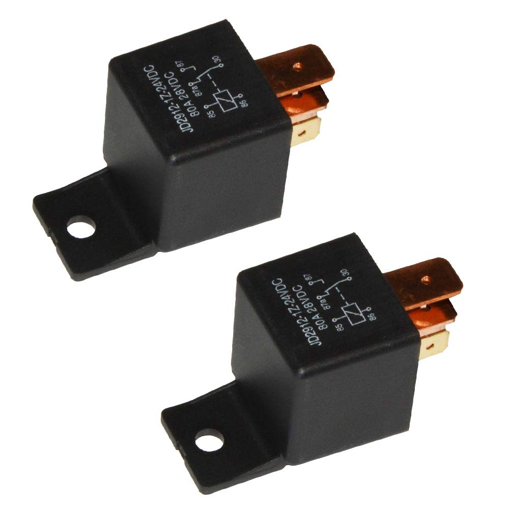 Ehdis® [2 Pack] 5-Pin JD2912-1Z-12VDC 80A 14VDC SPDT Truck Boat Van Vehicle Automotive Car Relay 12V Switch