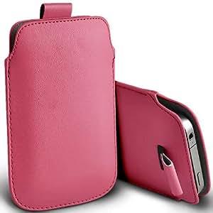 ONX3 ZTE Gran X en rosa claro PU Tire la lengüeta de protección bolsa cubierta de la funda
