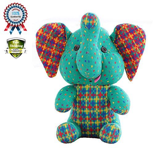 Sealive 1PCS 11 In Cute DIY Cartoon Multi-Color Elephant Baby Toy Soft Comfort Plush Animals Stuffed & Plush Doll Valentine Best Gifts,For 1-15 Years Kids