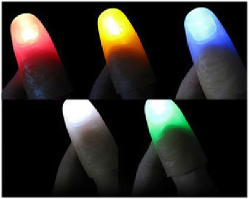rosso Toyvian Magic Light Up Thumbs dita Trick Close Up Light Halloween Party Props 2 paia