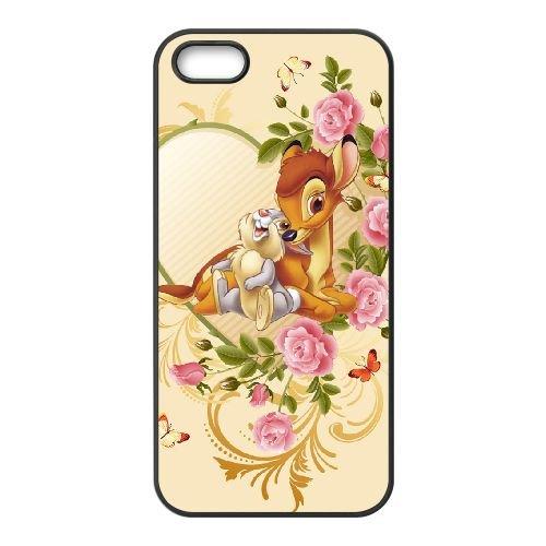 Bambi 019 coque iPhone 5 5s cellulaire cas coque de téléphone cas téléphone cellulaire noir couvercle EOKXLLNCD26224