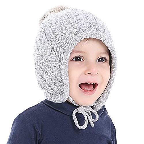 - Jarsh Kids Toddler Baby Winter Ear Flap Beanie Boy Girl Pompom Knit Crochet Hat Cap
