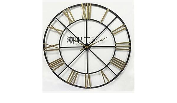 y-hui el salón cuadro reloj reloj de pared reloj de pared Art Grand Cafe Bar Soft relojes, fijación sobre medida para arrastre: Amazon.es: Hogar