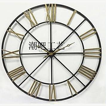 y-hui el salón del reloj de pared reloj de pared gran arte de mesa Bar Cafetería relojes blandos, diámetro de 150 cm.: Amazon.es: Hogar