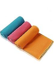 Amazon Brand Eono verkoelende handdoek, 3 stuks, 100 x 30 cm, golfdoek, Cooling Towel microvezel handdoek sporthanddoek voor yoga, reizen, klimmen, voetbal, tennis en outdoor sport golf handdoek