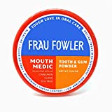 Frau Fowler Remineralizing Organic Tooth Powder, Mouth Medic (Cinnamon/Cove), Tooth Whitening Naturally, Fluoride-Free, 2 oz