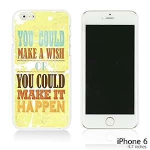 OnlineBestDigital - Typography Pattern Hard Back Case for Apple iPhone 6 (4.7 inch)Smartphone - Make It Happen