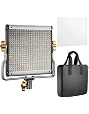 Neewer LED Luz Vídeo  Bicolor Regulable con Soporte U Kit, para Foto Estudio Grabación de Vídeo YouTube, 480 bombillas LED, 3200-5600K, CRI 96 (Enchufe UE)