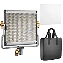 Neewer DimmableBi-color LED with U Bracket Professional Video Light for Studio, YouTube Outdoor Video Photography Lighting Kit, Durable Metal Frame, 480 LED Beads, 3200-5600K, CRI 96+
